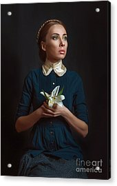 Vintage Portrait Of A Girl With A Acrylic Print