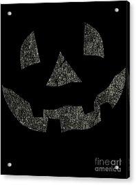 Vintage Pumpkin Face Acrylic Print