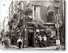 Vintage Temple Bar Dublin Acrylic Print