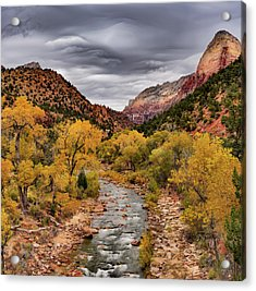 Virgin River Fall Acrylic Print by Leland D Howard
