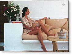 Viscountess In Ibiza Acrylic Print by Slim Aarons