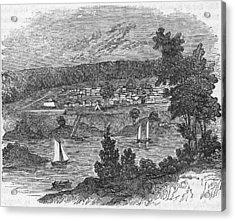 Vista Of Colonial Savannah, Georgia Acrylic Print by Kean Collection