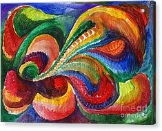 Vivid Abstract Watercolor Acrylic Print