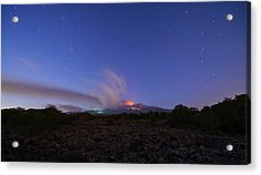 Volcano Etna Eruption Acrylic Print