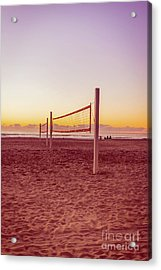 Volleyball Nets Sunset On Mission Beach Acrylic Print