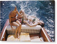 Vuccino And Rava Acrylic Print by Slim Aarons