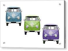 Vw Van Trio Acrylic Print