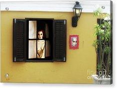 Waiting At The Window  Acrylic Print by ManDig Studios