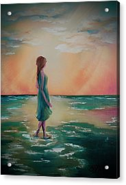 Walk Through Water Acrylic Print