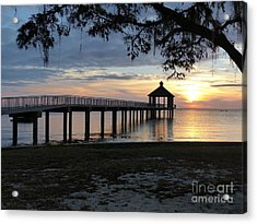 Walking Bridge To The Gazebo Acrylic Print