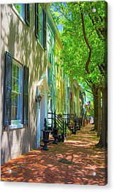 Walking On Duke Street Acrylic Print