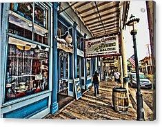 Walking The Boardwalk Acrylic Print