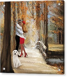 Walking The Dog Acrylic Print