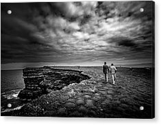 Walking To The Edge Acrylic Print