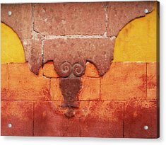 Wall In San Miguel, Mexico Acrylic Print by Billnoll