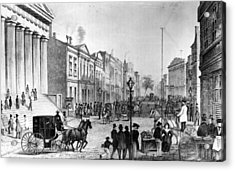 Wall Street In 1860s Acrylic Print by Fpg