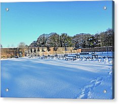 Walled Garden In The Snow Acrylic Print