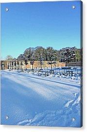 Walled Garden Winter Landscape Acrylic Print