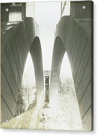 Walnut Lane Bridge Under Construction Acrylic Print