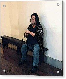 Walt Sitting Acrylic Print