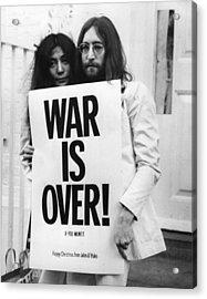 War Is Over Acrylic Print by Frank Barratt