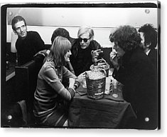 Warhol & Co. At Maxs Kansas City Acrylic Print by Fred W. McDarrah