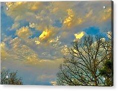 Warm And Cool Sky Acrylic Print