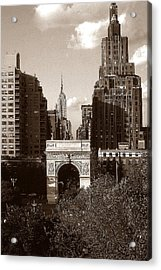 Washington Arch And New York University - Vintage Photo Art Acrylic Print