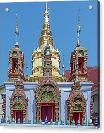 Acrylic Print featuring the photograph Wat Ban Kong Phra That Chedi Base Dthlu0502 by Gerry Gantt