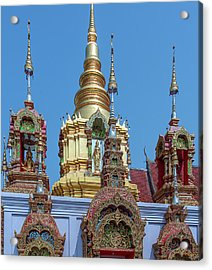 Acrylic Print featuring the photograph Wat Ban Kong Phra That Chedi Brahma And Buddha Images Dthlu0501 by Gerry Gantt