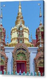 Acrylic Print featuring the photograph Wat Ban Kong Phra That Chedi Window Dthlu0504 by Gerry Gantt