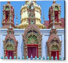 Acrylic Print featuring the photograph Wat Ban Kong Phra That Chedi Windows Dthlu0503 by Gerry Gantt
