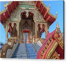 Acrylic Print featuring the photograph Wat Chai Mongkon Phra Ubosot Entrance Dthlu0394 by Gerry Gantt