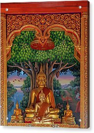 Acrylic Print featuring the photograph Wat Kulek Phra Wihan Buddha Images Dthlu0448 by Gerry Gantt