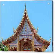 Acrylic Print featuring the photograph Wat Kulek Phra Wihan Gable Dthlu0443 by Gerry Gantt