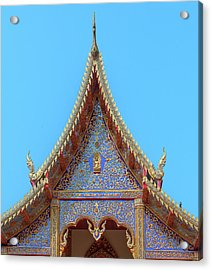 Acrylic Print featuring the photograph Wat Kulek Phra Wihan Gable Dthlu0444 by Gerry Gantt