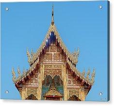 Acrylic Print featuring the photograph Wat Nong Tong Phra Wihan Gable Dthcm2640 by Gerry Gantt
