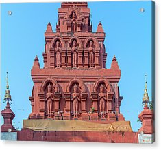 Acrylic Print featuring the photograph Wat Pa Chedi Liam Phra Chedi Liam Buddha Images Dthcm2673 by Gerry Gantt