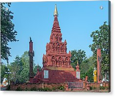 Acrylic Print featuring the photograph Wat Pa Chedi Liam Phra Chedi Liam Dthcm2670 by Gerry Gantt