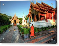 Wat Phra Singh, Chiang Mai Acrylic Print by Ashit Desai
