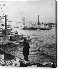 Watching Boats Acrylic Print by Hulton Archive