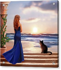 Watching The Sunset Together Acrylic Print