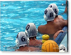 Water Polo Players Resting In A Acrylic Print