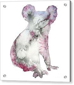 Watercolor Koala Bear Animal Acrylic Print
