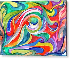 Watercolor's Swirl Acrylic Print