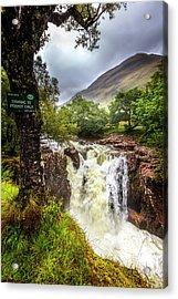 Waterfall At The Ben Nevis Mountain Acrylic Print