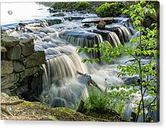 Waterfall At The Old Mill  Acrylic Print