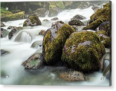 Waterfall, Bc, Canada Acrylic Print by Paul Souders
