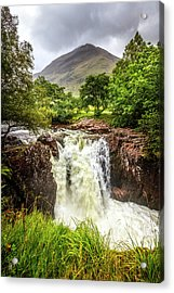 Waterfall Under The Mountain Acrylic Print