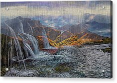 Waterfalls In The Mountains Acrylic Print